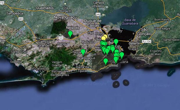 Die virtuelle Favela-Map von BuzzingCities stellt die Besetzung der Favelas in Rio de Janeiro optisch dar