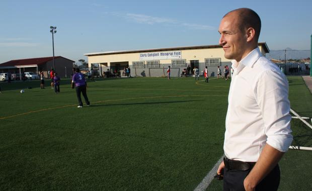 Florian Zech, Gründer der Fußballorganisation Amandla, steht heute nur noch selten auf dem Spielfeld (Foto: Sonja Peteranderl)